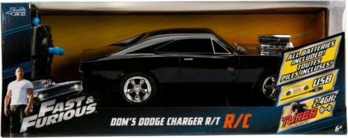 Dickie Auto RC Fast&Furious Szybcy i wściekli Dodge Charger 1970 czarne 1