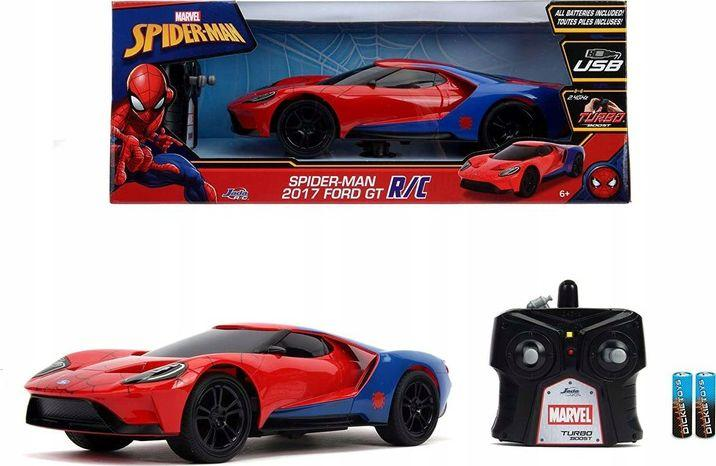 Dickie Auto RC Ford GT 2017 Spiderman Marvel czerwone 1