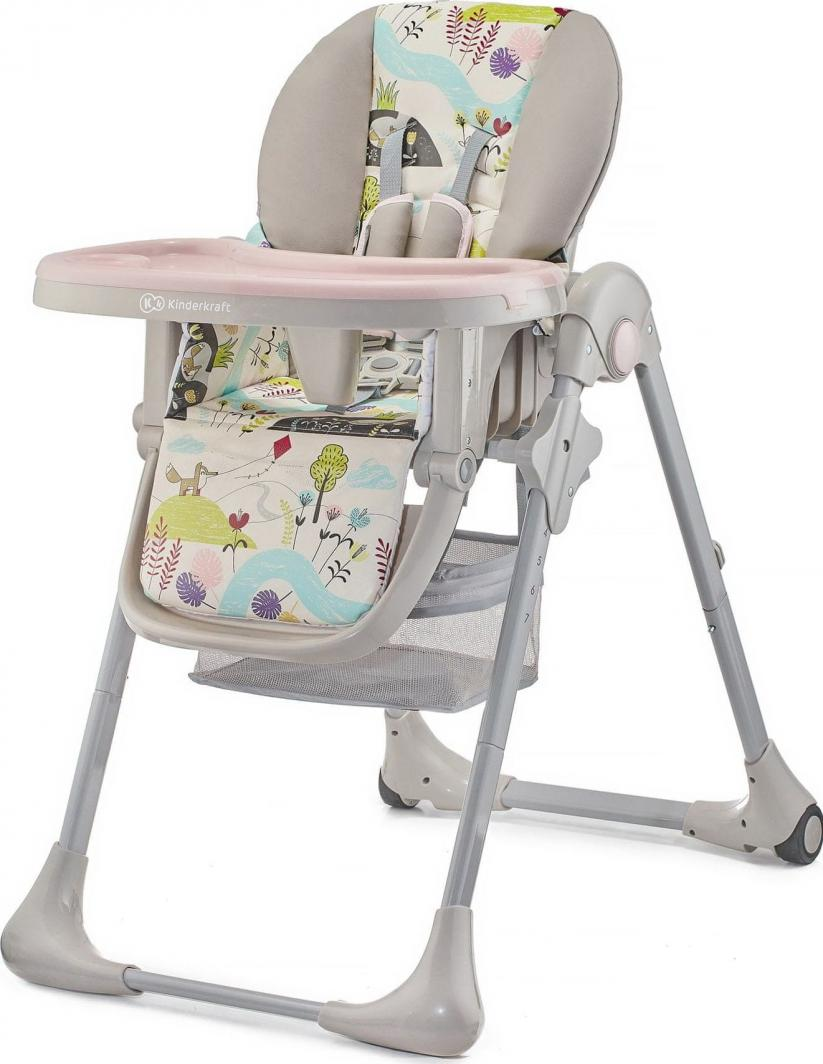 KinderKraft Krzesełko do karmienia Yummy Pink Leaf 1