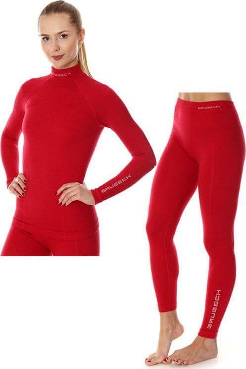 Brubeck Komplet bielizny damskiej Extreme Wool malinowy r. M (KP10190) 1
