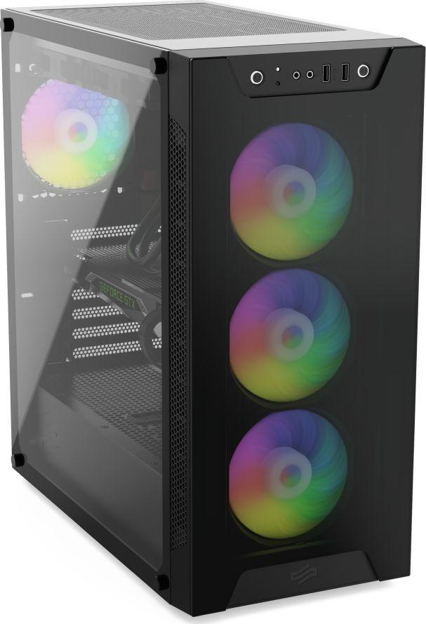Komputer Game X G500, Ryzen 5 3600, 16 GB, Radeon RX 5600 XT, 250 GB M.2 PCIe 1 TB HDD  1