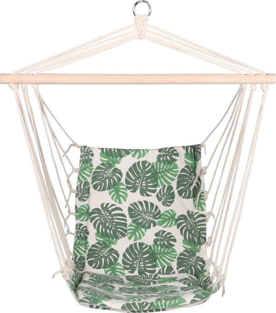 Royokamp  Hamak fotel brazylijski Natura 100x50cm z wszytą poduszką zielony 1
