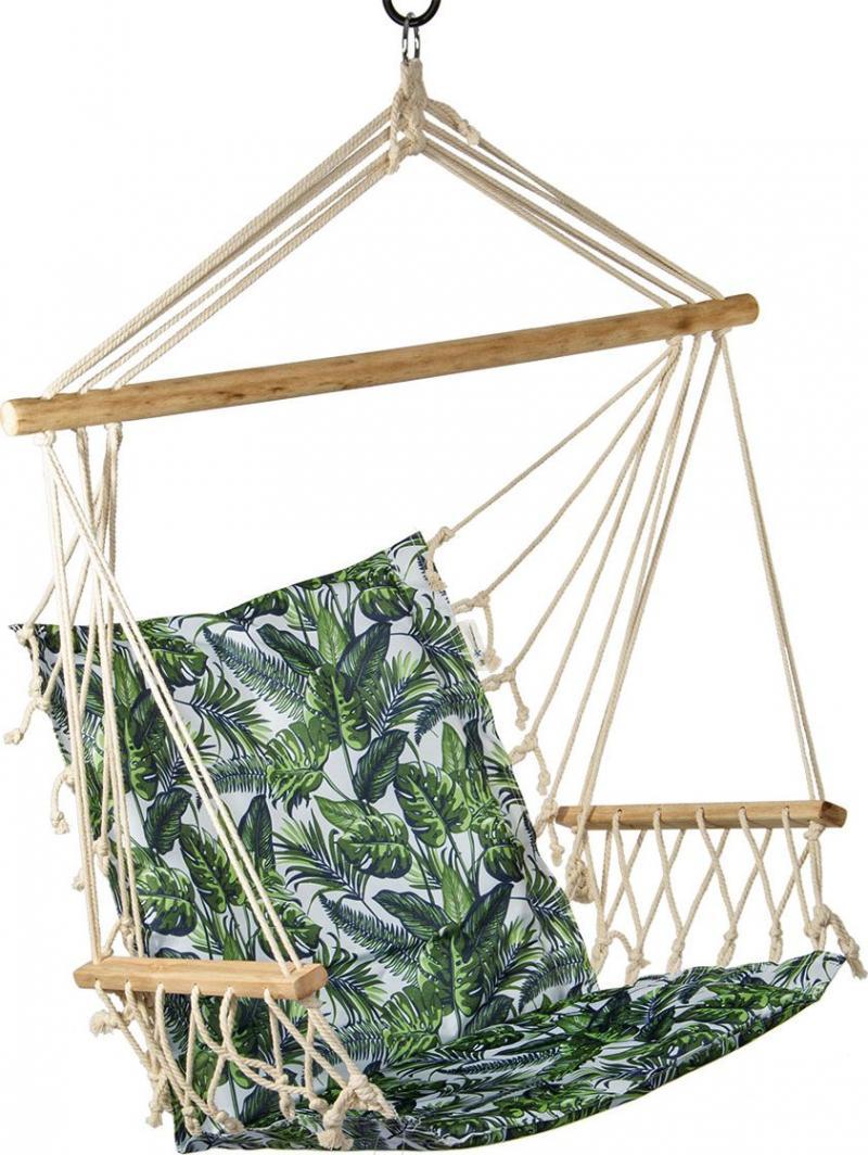 Royokamp  Hamak fotel brazylijski 100x55cm podłokietnikami zielony 1