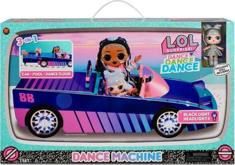 MGA Samochód kabriolet Dance Machine 3w1 i ekskluzywna lalka (117933) 1
