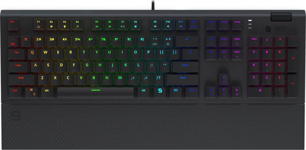 Klawiatura SPC Gear GK650K Omnis Kailh Brown RGB (SPG116)  1