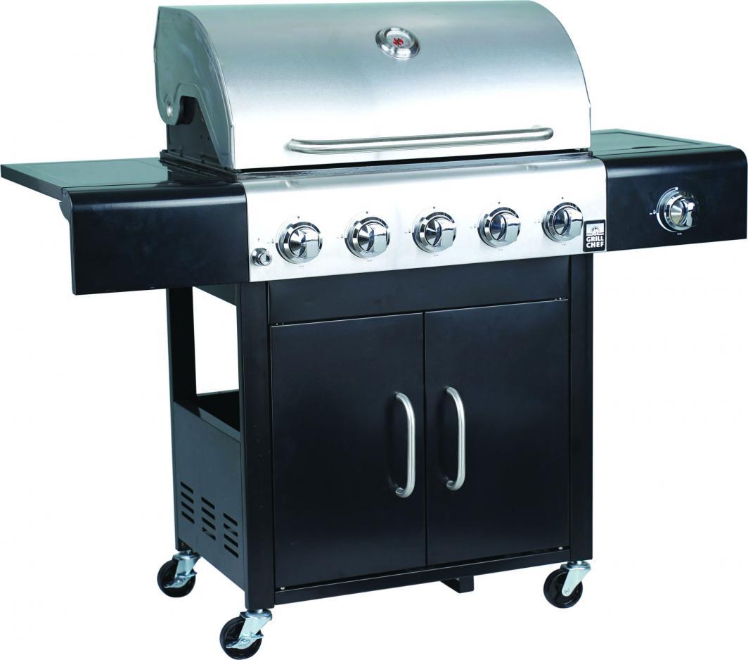 Landmann Grill ogrodowy gazowy XXL Trendy US 5.1 Grill Chef ruszt żeliwny 70x44 cm (12276) 1