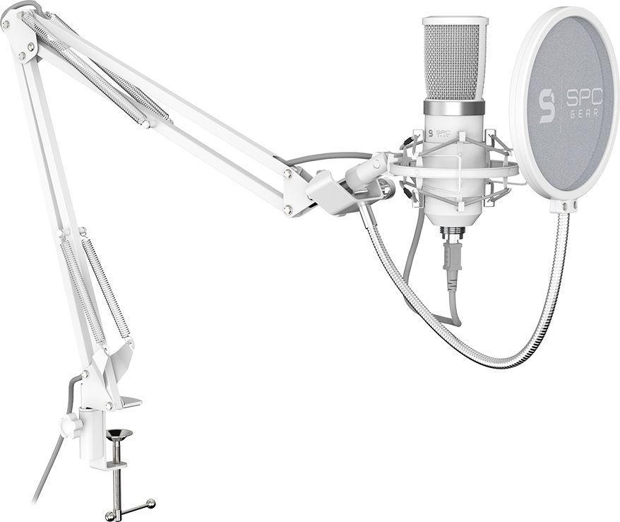 Mikrofon SPC Gear SM950 Onyx White Streaming USB (SPG106) 1