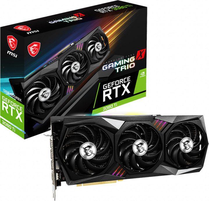 Karta graficzna MSI GeForce RTX 3080 Ti Gaming X Trio 12GB GDDR6X (RTX 3080Ti GAMING X TRIO) 1