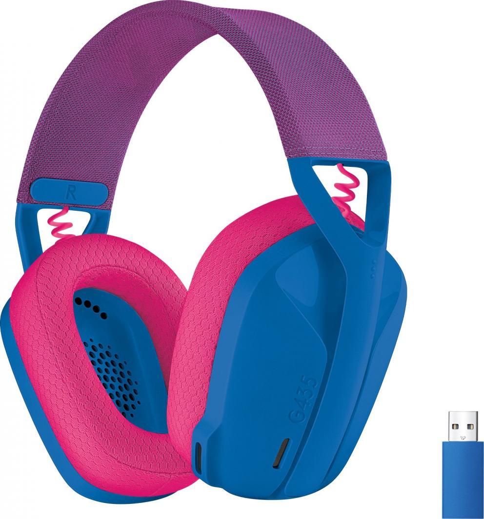 Słuchawki Logitech G435 Wireless blue (981-001062) 1