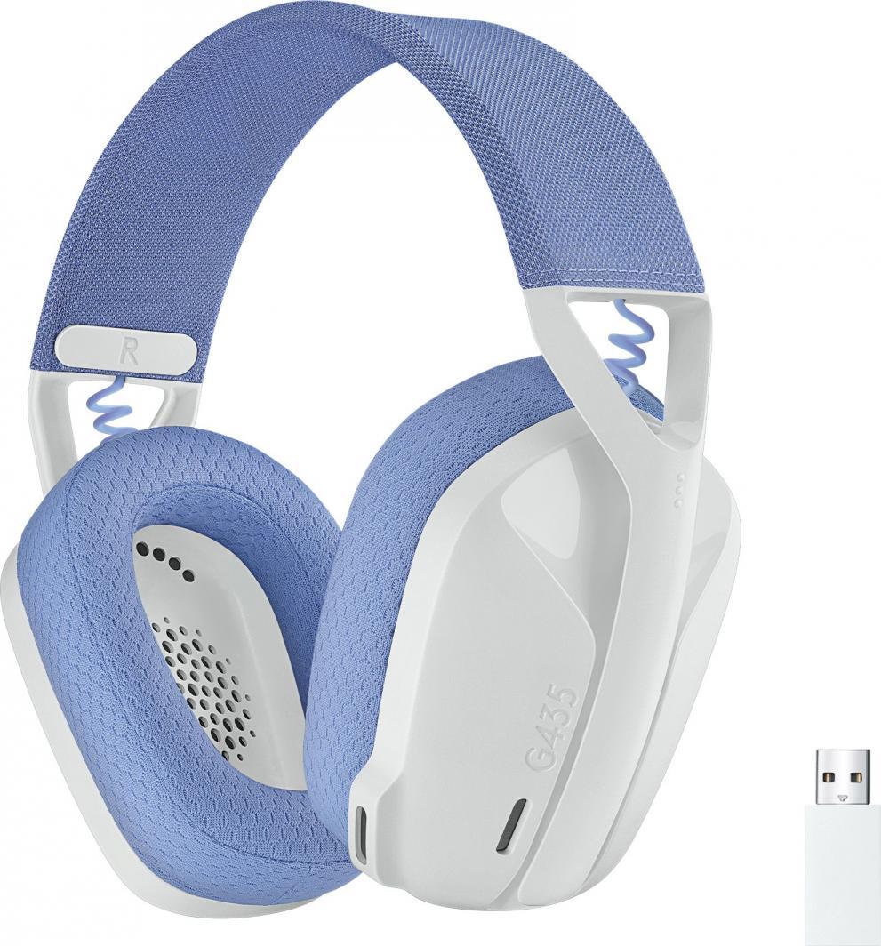 Słuchawki Logitech G435 Wireless white (981-001074) 1