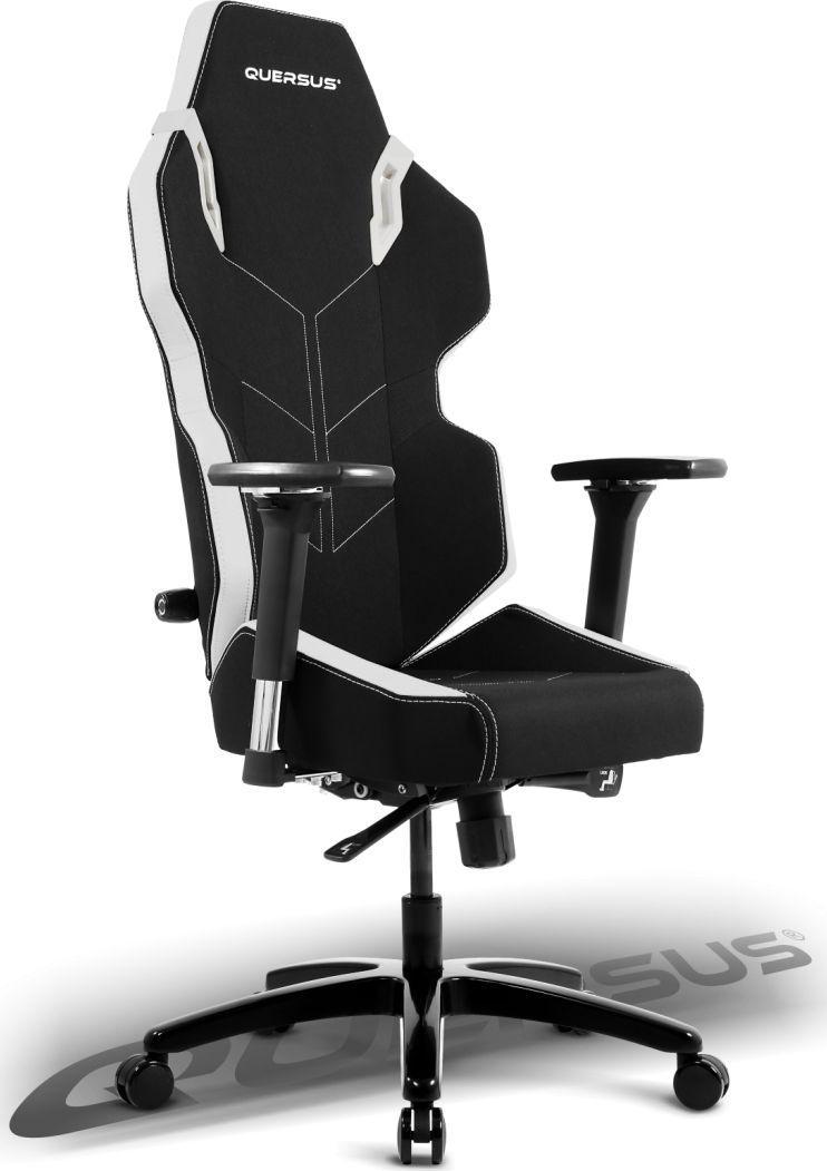 Fotel Quersus EVOS 301 Czarno-biały (E301/XW) 1