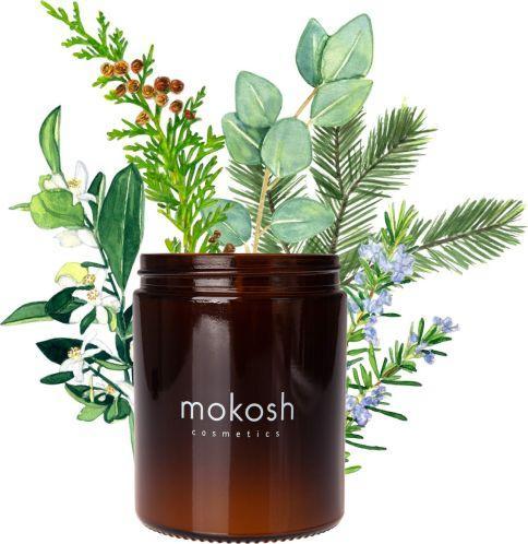 """Mokosh Roślinna świeca sojowa """"Jodłowy bór"""" 140 g (słoik szklany) 1"""