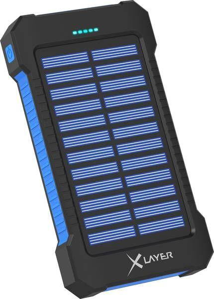 Powerbank Xlayer PLUS Solar Black/Blue 8000mAh 1
