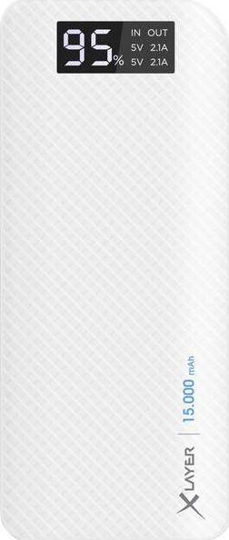 Powerbank Xlayer Pure Carbon White 15000mAh 1