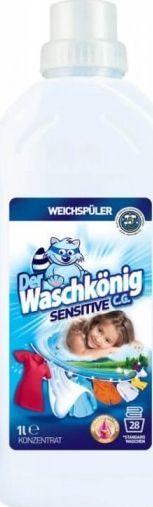 Płyn do płukania Der Waschkönig Płyn do płukania tkanin Der Waschkönig C.G. Sensitive 1 l - 28 WL uniwersalny 1