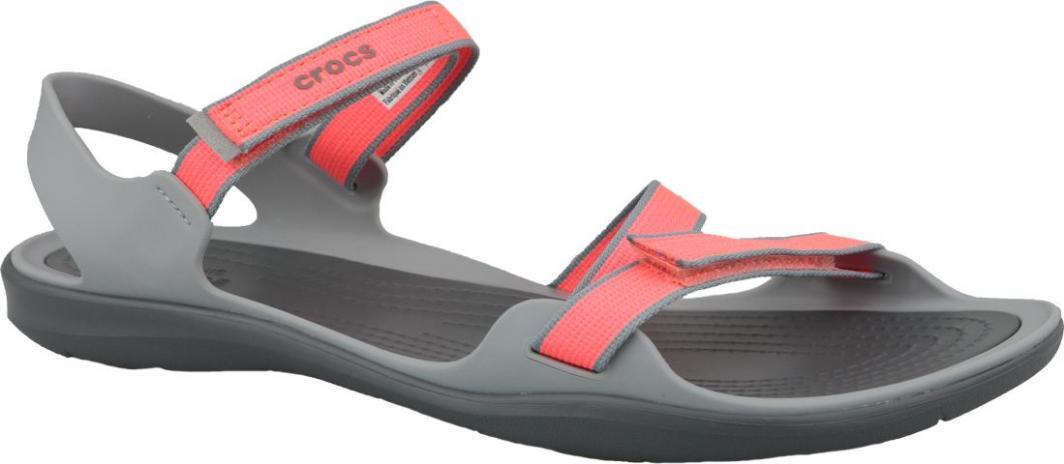 wylot zasznurować sportowa odzież sportowa Crocs Sandały damskie Swiftwater Webbing pomarańczowe r. 41/42 (204804-6PK)  ID produktu: 6017312