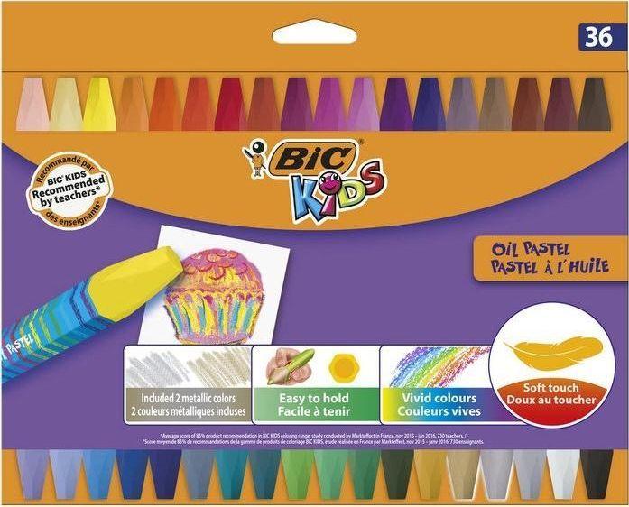 Bic Kredki pastele olejne Kids oil 36 kolorów BIC 1