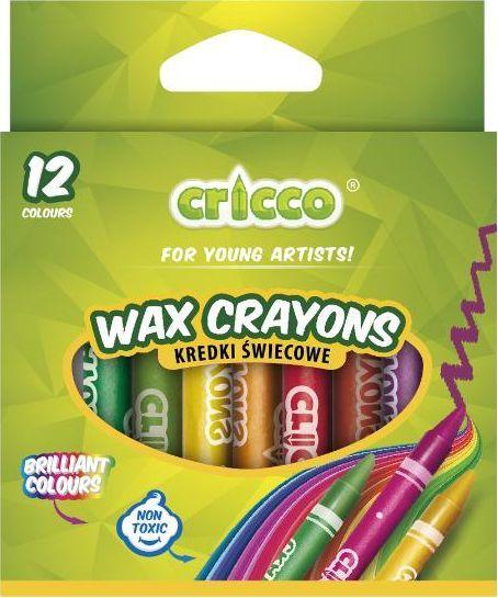 Cricco Kredki świecowe 12 kolorów CRICCO 1