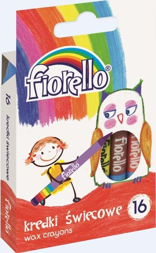 Fiorello Kredki świecowe 16 kolorów FIORELLO 1