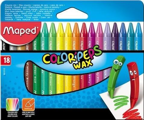 Maped Kredki Colorpeps świecowe 18 kolorów MAPED 1