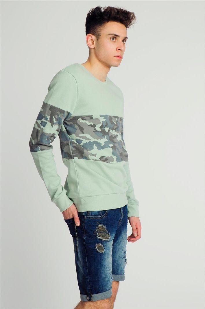bluza sublevel zielona męska