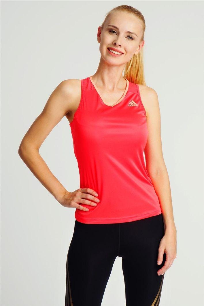 Top damski sportowy koralowy Adidas