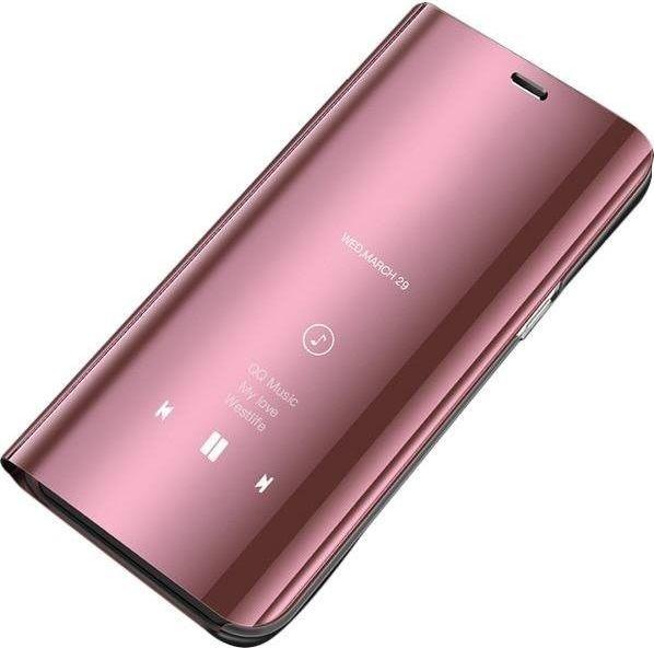 Hurtel Clear View Case futerał etui z klapką Huawei P30 Pro różowy uniwersalny 1