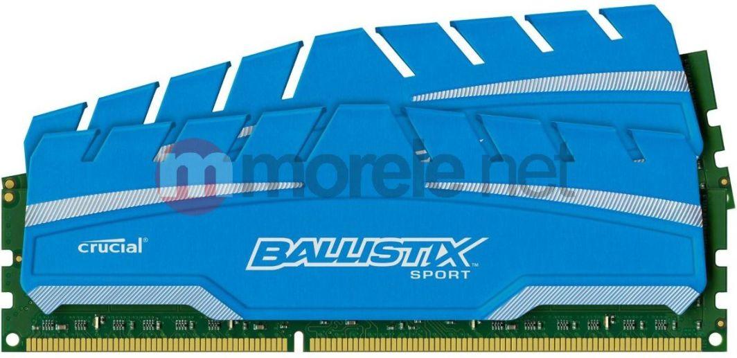 Pamięć Ballistix Ballistix Sport XT, DDR3, 8 GB, 1600MHz, CL9 (BLS2C4G3D169DS3CEU) 1