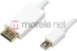 Kabel LogiLink DisplayPort Mini - HDMI 2m biały (CV0056) 1