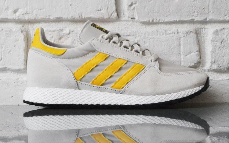 3166b4446 Adidas Buty męskie Forest Grove szaro-żółte r. 43 1/3 (BD7943) w Sklep -presto.pl