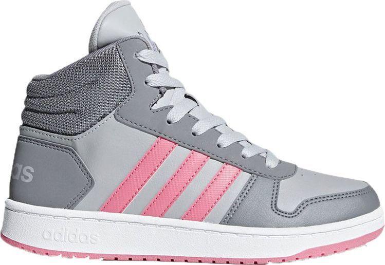 Adidas Buty dziecięce Hoops Mid 2.0 K szare r. 39 13 (DB1952) ID produktu: 6028151