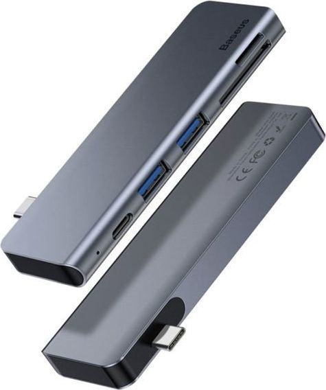 HUB USB Baseus Harmonica 5w1 2xUSB 3.0 USB-C micro SD 1