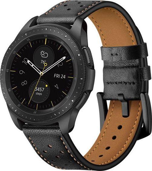 Alogy Skórzany pasek Alogy leather band do Samsung Gear S3 /Watch 46 mm czarny uniwersalny 1