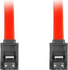 Lanberg CA-SASA-14CU-0030-R (SATA III M - SATA III M; 0,30m; kolor czerwony) 1