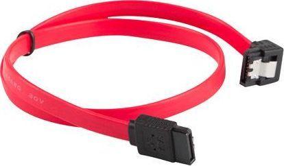 Lanberg CA-SASA-13CC-0030-R (SATA II M - SATA II M; 0,30m; kolor czerwony) 1