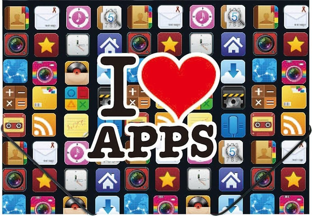 Panta Plast Teczka na gumkę A4 z nadrukiem Apps 1