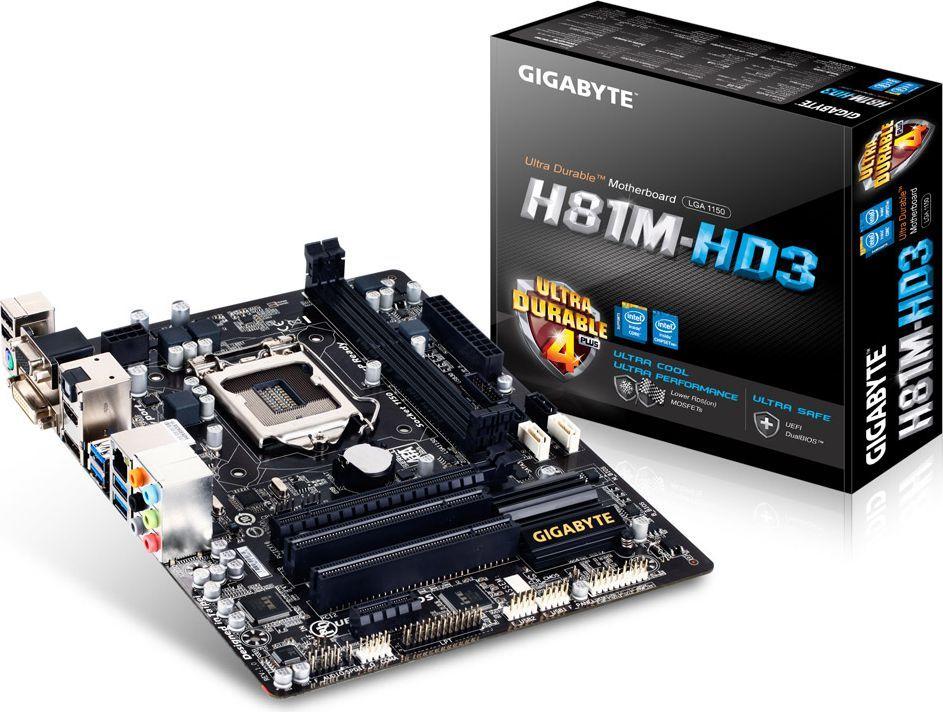 Płyta główna Gigabyte GA-H81M-HD3, H81, DualDDR3-1600, SATA3, HDMI, mATX (GA-H81M-HD3) 1