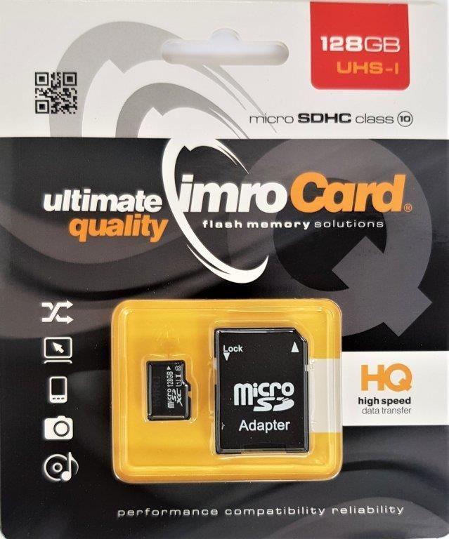 Karta Imro MicroSDHC 128 GB Class 10 UHS-I/U1  (10/128G UHS-I ADP) 1