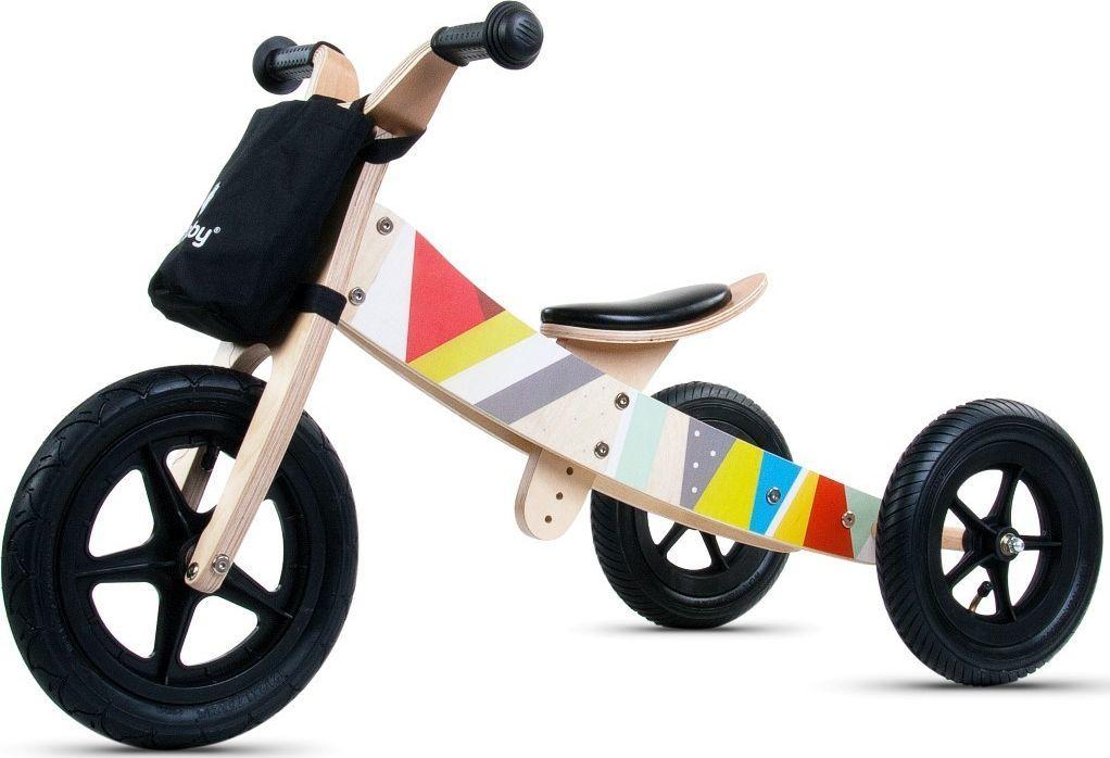 Sun Baby Rowerek biegowy drewniany 2w1 Twist Classic Black 1