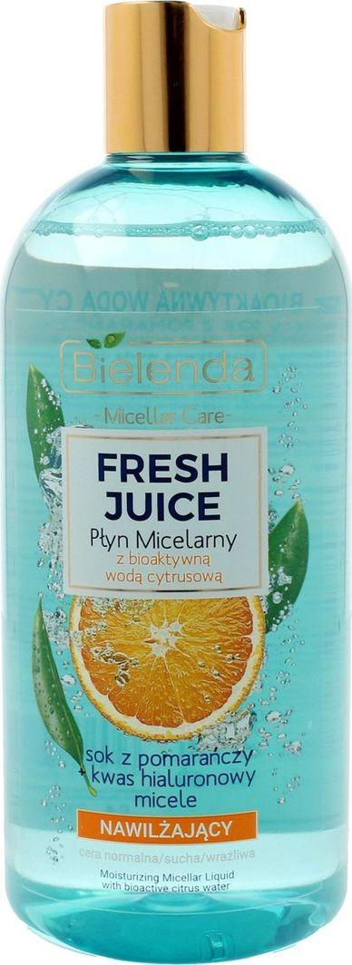 Bielenda Fresh Juice Płyn micelarny nawilżający z wodą cytrusową Pomarańcza 100ml 1