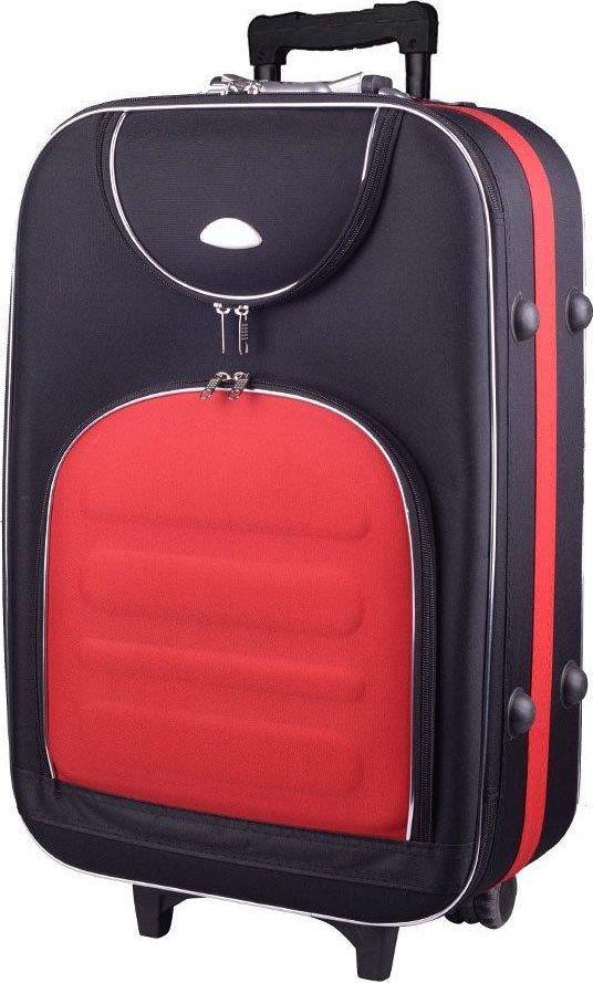PELLUCCI Mała kabinowa walizka PELLUCCI 801 S - Czarno Czerwona uniwersalny 1