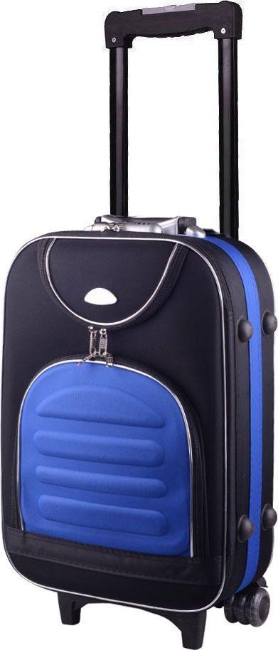 PELLUCCI Mała kabinowa walizka PELLUCCI 801 S - Czarno Niebieska uniwersalny 1
