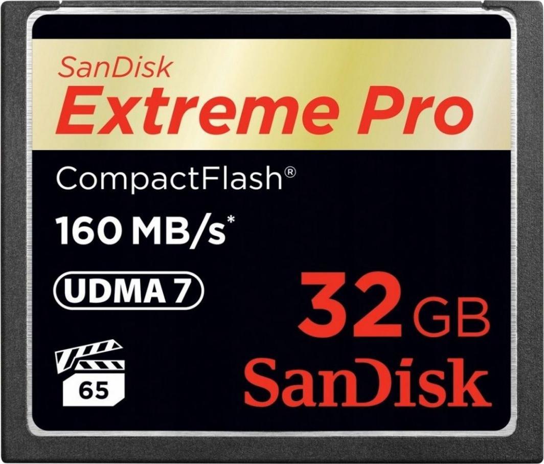 Karta SanDisk Extreme Pro Compact Flash 32 GB Class 10 V10 (SDCFXPS032GX46) 1