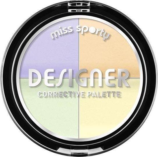 Miss Sporty Designer Corrective Palette paleta czterech korektorów, 7g 1