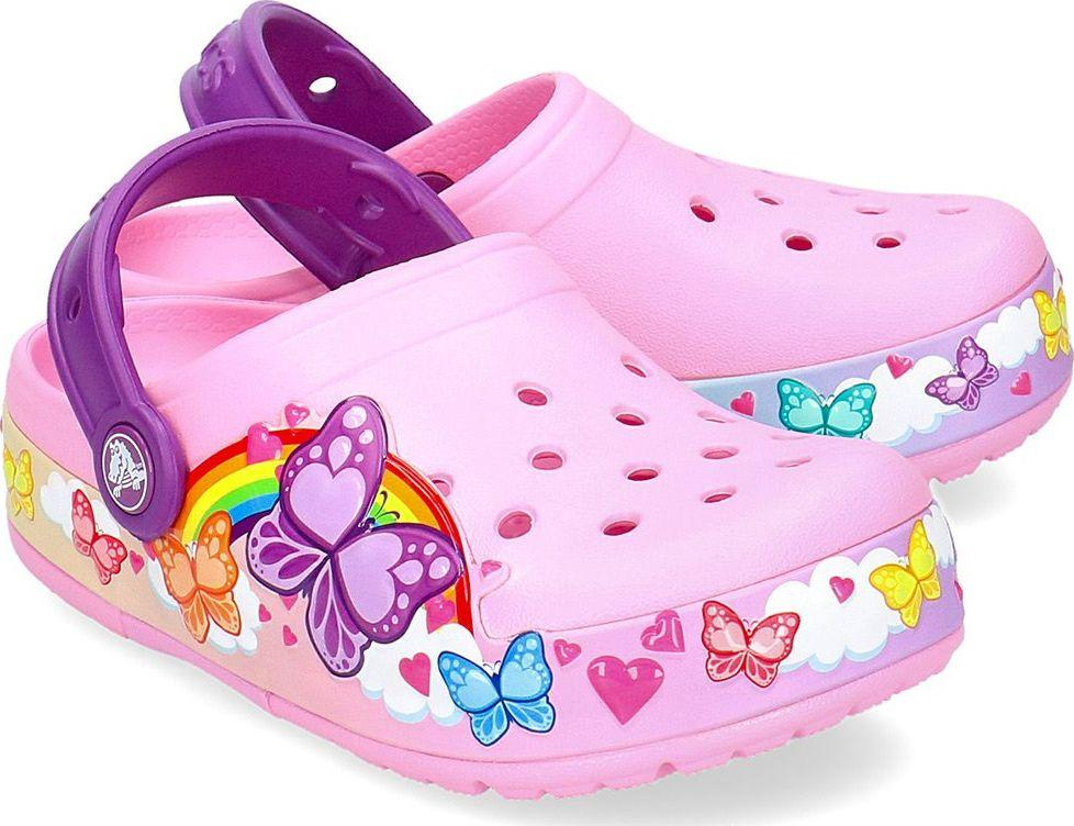 Crocs Klapki dziecięce Butterflyband Lights Clog Carnation r. 3233 (205649) ID produktu: 6080789