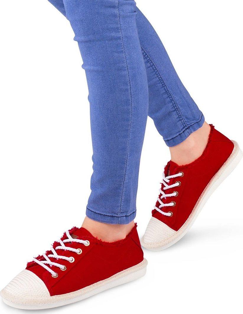 IDEAL SHOES Buty damskie X 9716 czerwone r. 40 ID produktu: 6092811