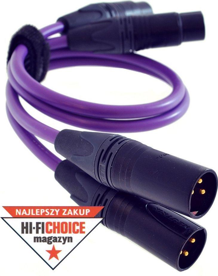 Kabel Melodika XLR x2 - XLR x2 10m fioletowy 1