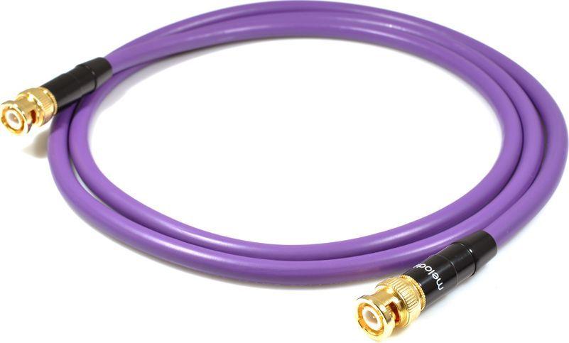 Kabel Melodika BNC - BNC 0.5m fioletowy 1