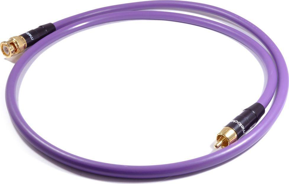 Kabel Melodika RCA (Cinch) - BNC 0.5m fioletowy 1