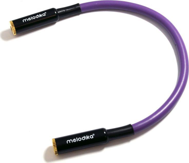 Kabel Melodika Jack 3.5mm - Jack 3.5mm 0.2m fioletowy 1